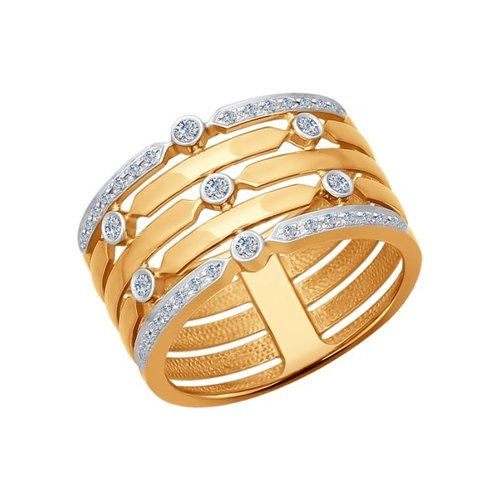 Кольцо из золота с бриллиантами (1011519) - фото