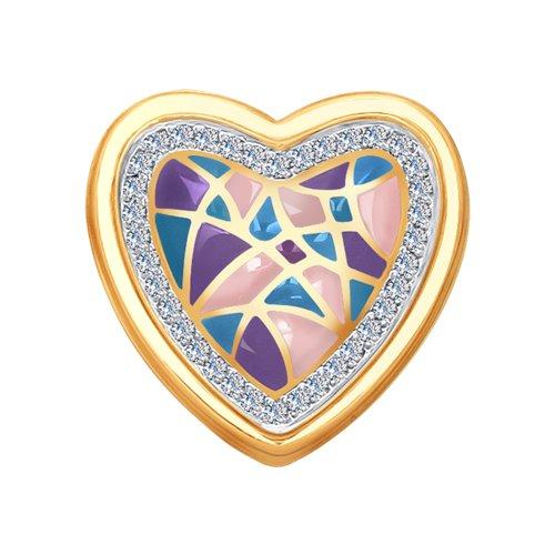 Подвеска из золота с эмалью и бриллиантами