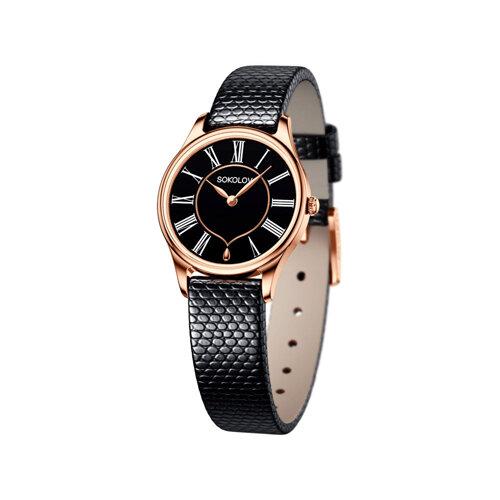 Женские золотые часы (238.01.00.000.03.01.2) - фото