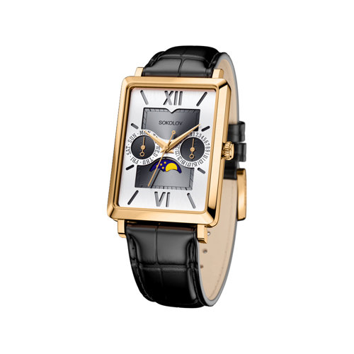 Мужские золотые часы (233.02.00.000.03.01.3) - фото