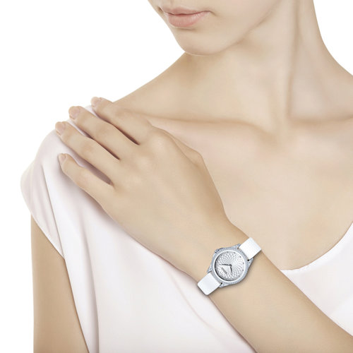 Женские серебряные часы (137.30.00.001.03.02.2) - фото №3