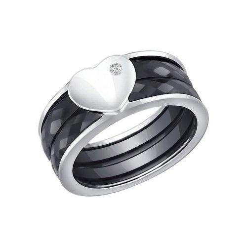 Керамическое кольцо с серебром SOKOLOV повязка атрауман с серебром 10 х 10 см n 10