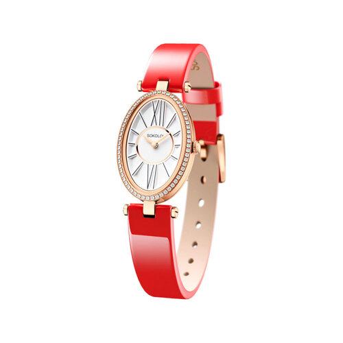 Женские золотые часы (236.01.00.001.01.06.2) - фото