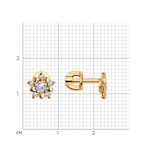 Серьги-гвоздики в виде цветков (024036) - фото №2