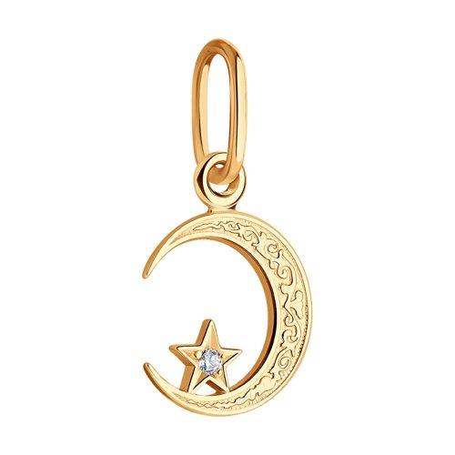 Подвеска мусульманская из золота с фианитом 030054 SOKOLOV фото 3