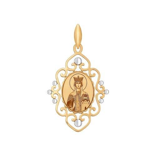 Иконка из золота с алмазной гранью и лазерной обработкой