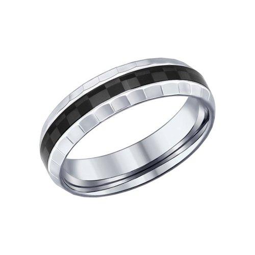 Кольцо из серебра с эмалью и алмазной гранью
