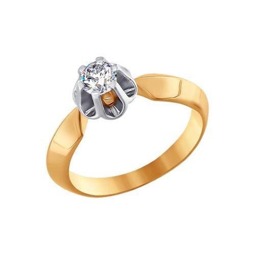 Фото - Помолвочное кольцо SOKOLOV из комбинированного золота с фианитом кольцо sokolov из комбинированного золота с синим фианитом
