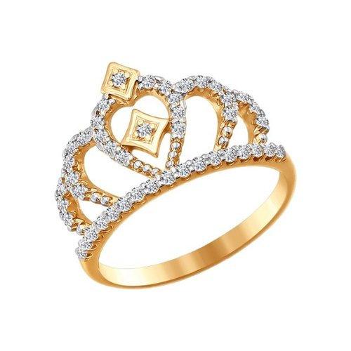Золотое кольцо «Корона» золотое кольцо ювелирное изделие 01k684711ul