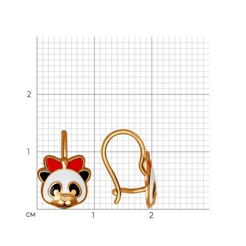 Серьги «Медвежонок» из золота  (027352) - фото №2