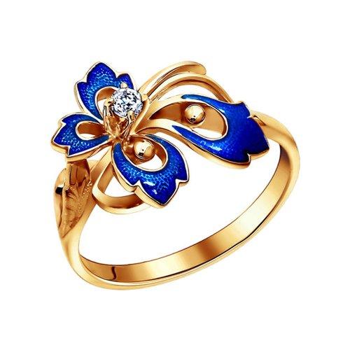 Женское кольцо золото с эмалью SOKOLOV платье женское blagof