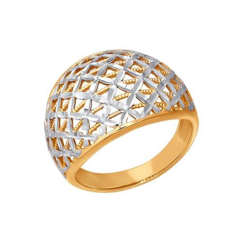 Золотое кольцо с алмазной гранью SOKOLOV золотое кольцо ювелирное изделие 01k676500