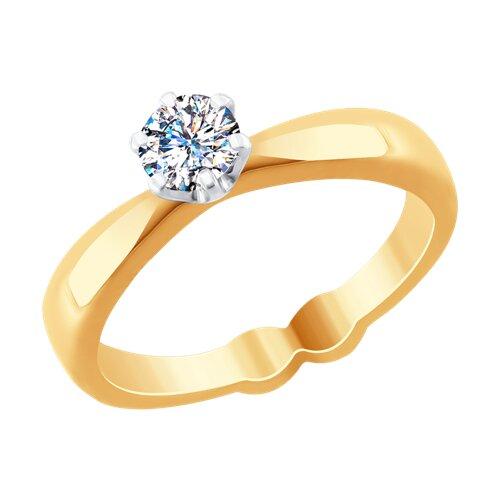 Кольцо из комбинированного золота с бриллиантами (9010053) - фото