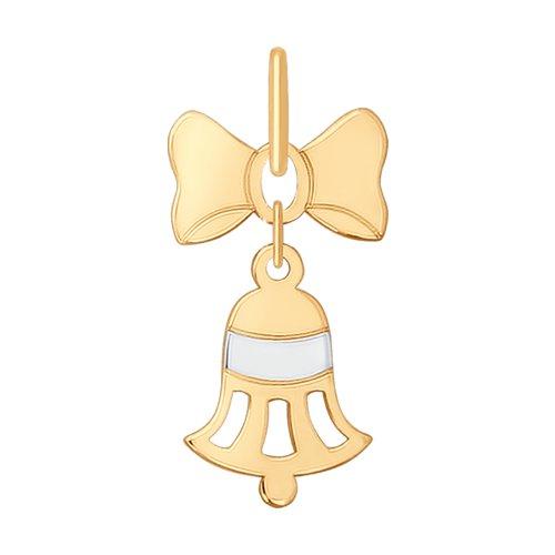 Подвеска «Колокольчик» из золота (035225) - фото