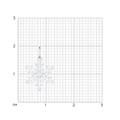 Подвеска «Снежинка» из серебра