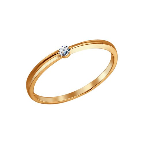 Помолвочное кольцо из золоченого серебра