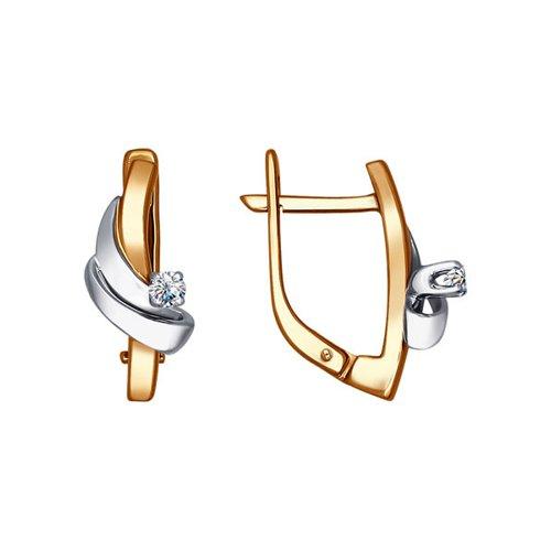 Лаконичные серьги SOKOLOV из комбинированного золота с бриллиантом дмитрий валерьевич хоменко стань храброй советы девушкам имолодым женщинам