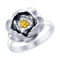 Кольцо из серебра с золочением
