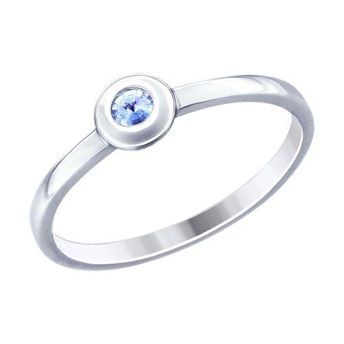 Кольцо из серебра с фианитом (94012794) - фото