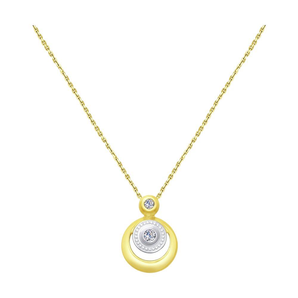 Колье SOKOLOV из желтого золота с бриллиантами колье с топазами и бриллиантами из желтого золота valtera 69493