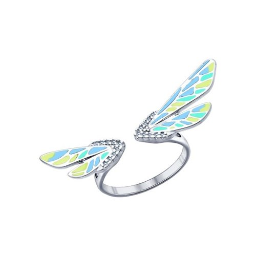 Кольцо с крылышками SOKOLOV
