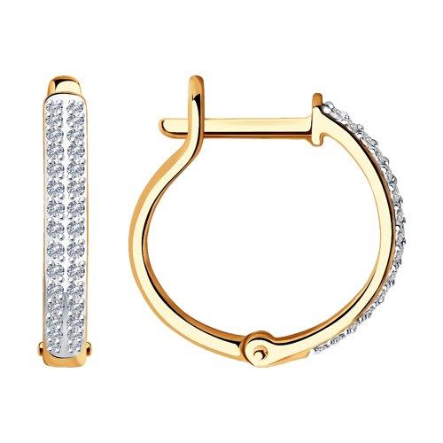 Серьги из золота с бриллиантами (1021442) - фото
