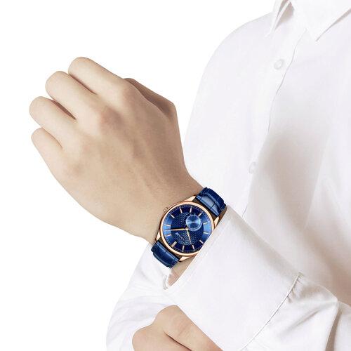 Мужские золотые часы (237.01.00.000.07.04.3) - фото №3