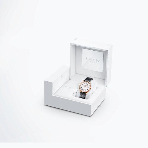 Женские золотые часы (238.01.00.000.01.01.2) - фото №4