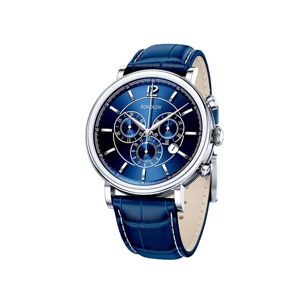 Мужские серебряные часы SOKOLOV фото