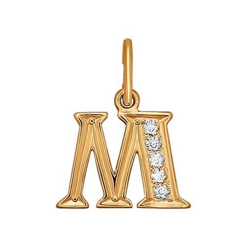 Фото - Золотая подвеска-буква «М» SOKOLOV золотая подвеска буква и sokolov