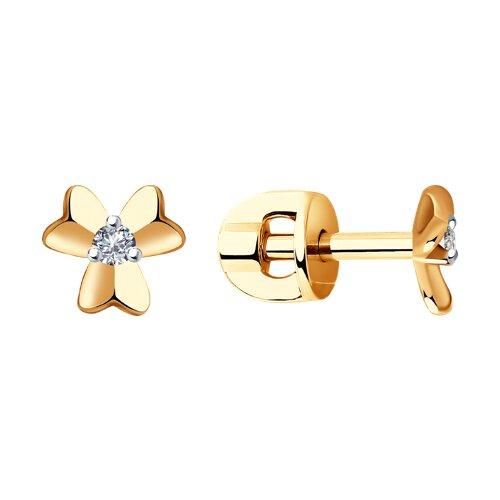 Серьги из золота с бриллиантами (1021423) - фото
