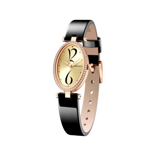 Женские золотые часы (236.01.00.001.06.04.2) - фото