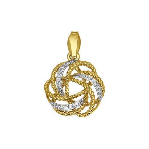 Подвеска SOKOLOV из жёлтого золота с бриллиантами недорого