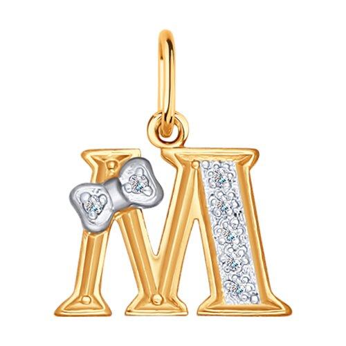 Золотая подвеска-буква «М»