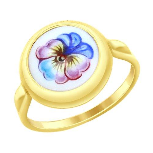 Кольцо из желтого золота (781017-2) - фото