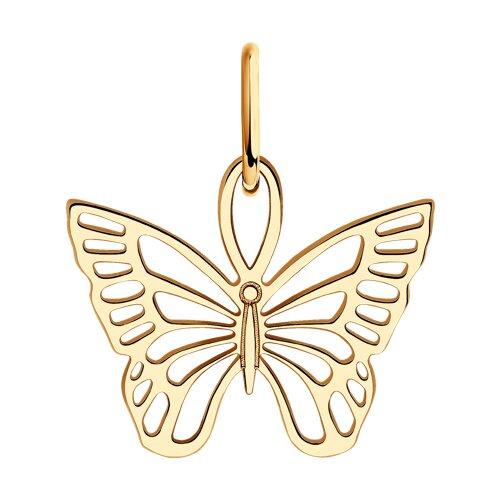 Подвеска из золота «Бабочка»  (034625) - фото