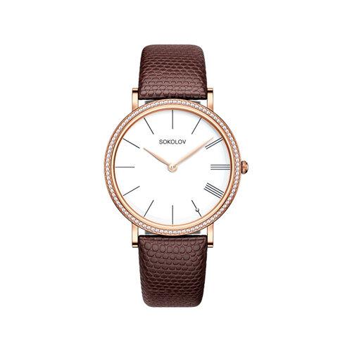 Женские золотые часы (210.01.00.100.01.03.2) - фото №2
