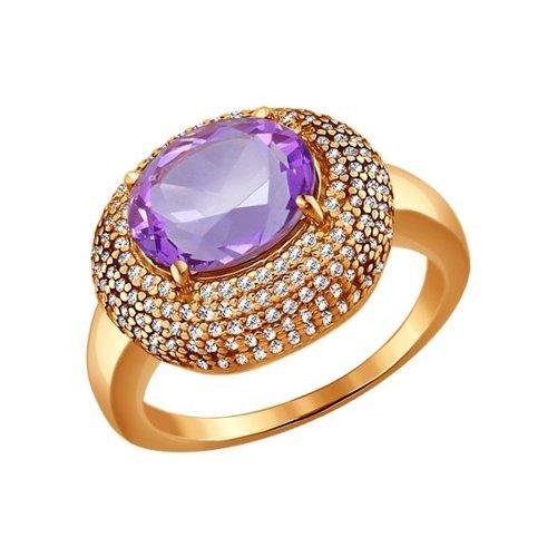 Кольцо с крупным аметистом SOKOLOV кольцо с крупным аметистом