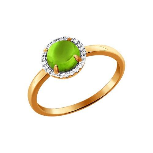 Золотое кольцо с хризолитом SOKOLOV золотое кольцо ювелирное изделие k 11013