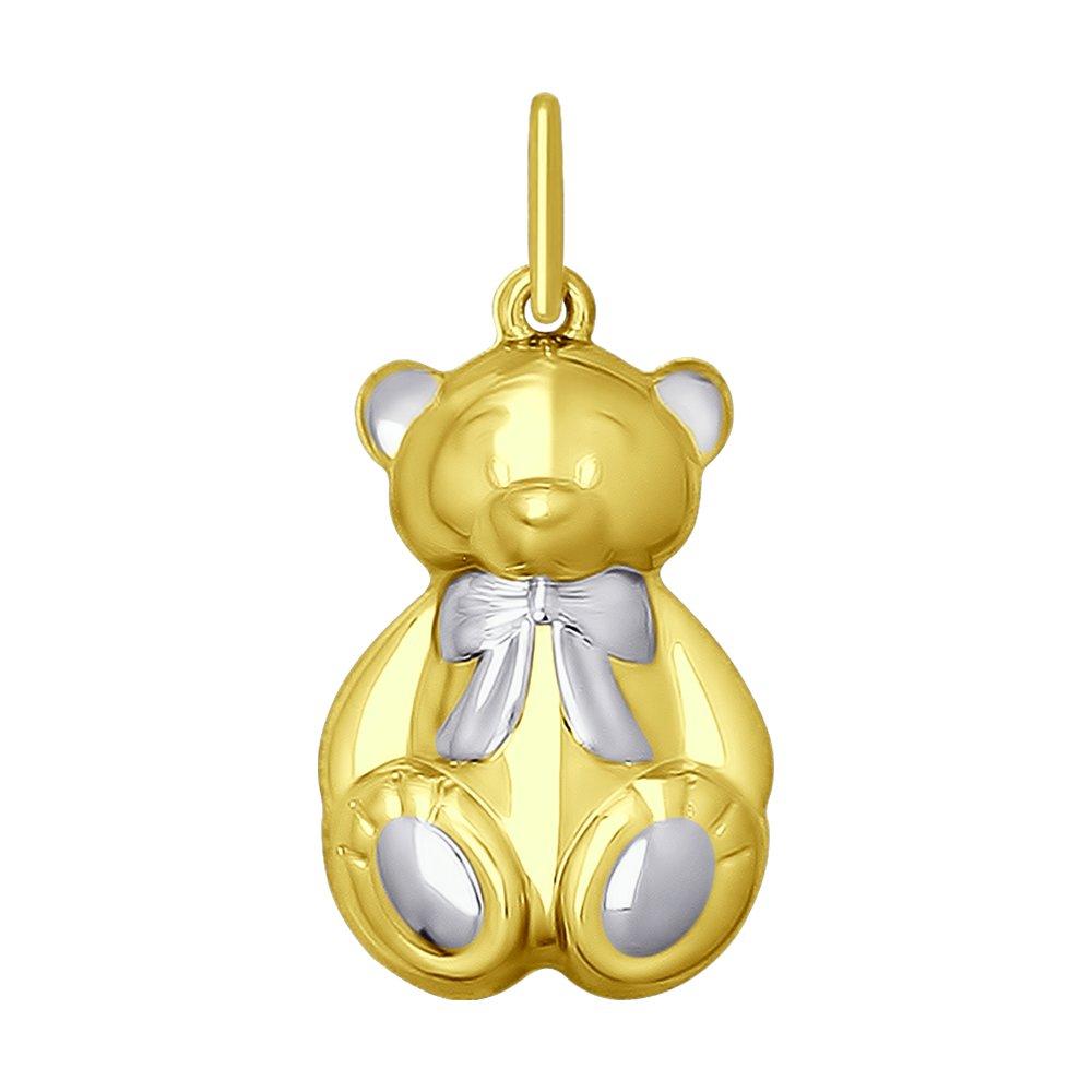 Подвеска SOKOLOV из желтого золота «Мишутка»