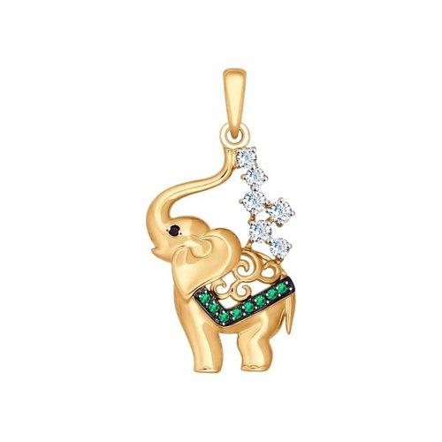 Подвеска «Слоник» из золота
