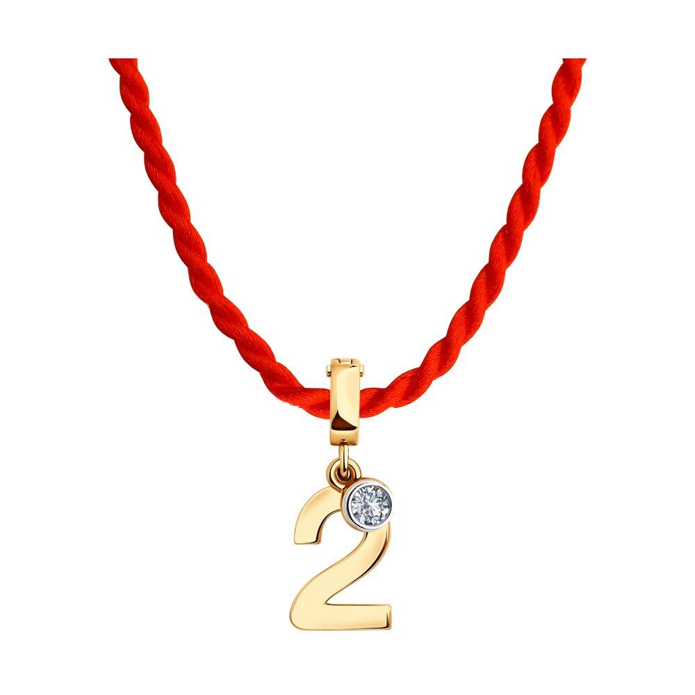 Набор с подвеской SOKOLOV из золота с фианитом набор для девочки тигренок с браслетом и подвеской crystal surprise