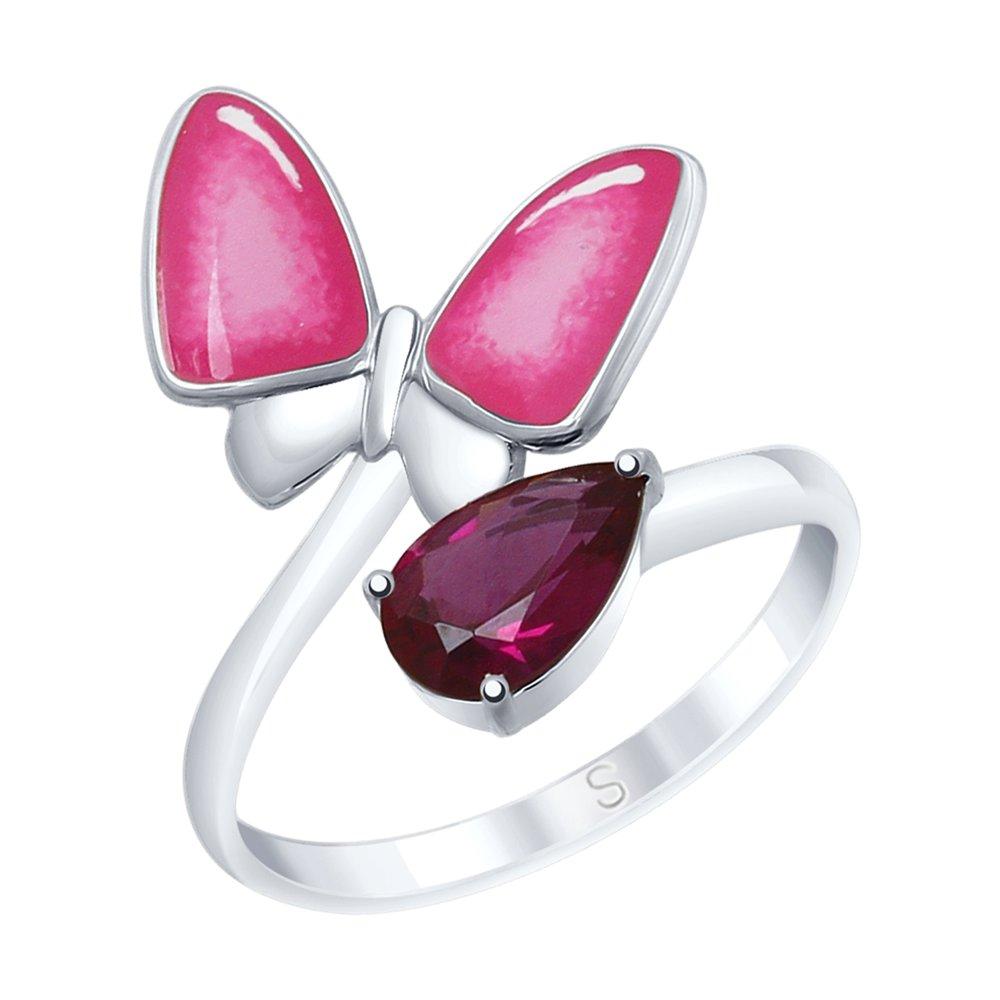 Кольцо SOKOLOV из серебра с эмалью «Бабочка» кольцо бабочка sokolov
