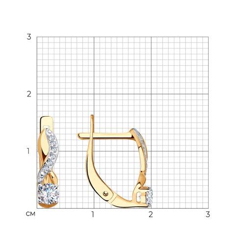 Серьги из золота с фианитами 028217 SOKOLOV фото 2