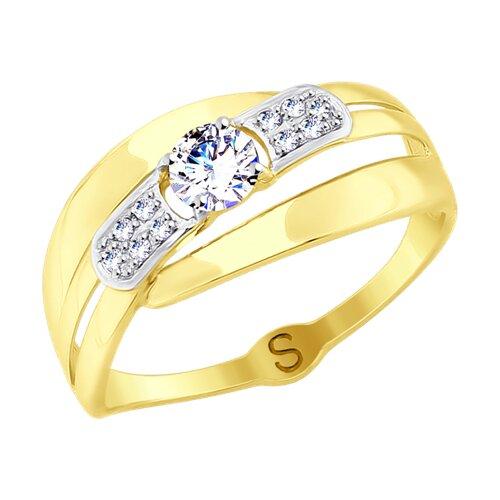Кольцо из желтого золота (017695-2) - фото