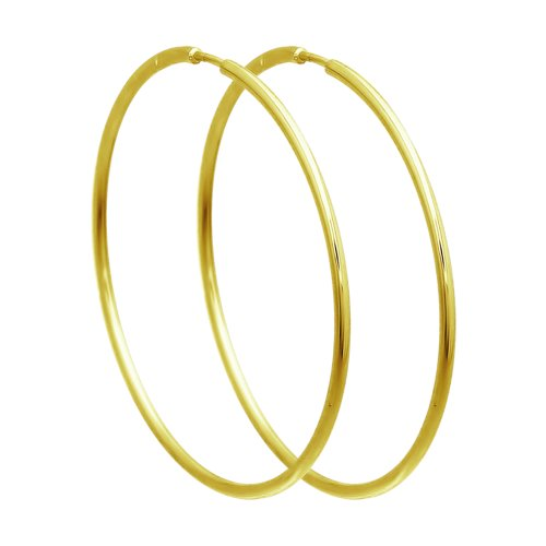 Серьги из желтого золота (140005-2) - фото