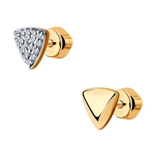 Серьги из золота с бриллиантами (1021431) - фото