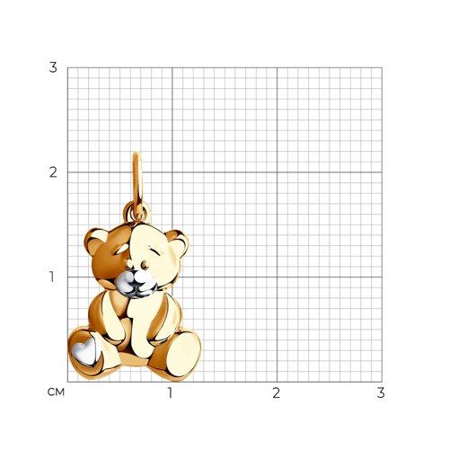 Подвеска «Мишка» из золота (034948) - фото №2
