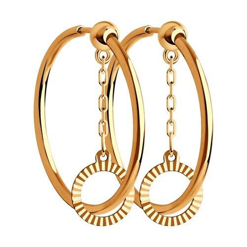 Серьги из золота с алмазной гранью 028858 SOKOLOV фото