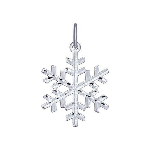 Серебряная подвеска «Снежинка» (94031708) - фото